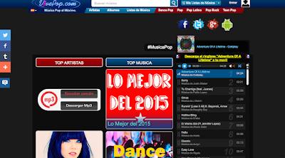 Web de México con Miles de músicos artistas y canciones Pop. VivePop Web de Música