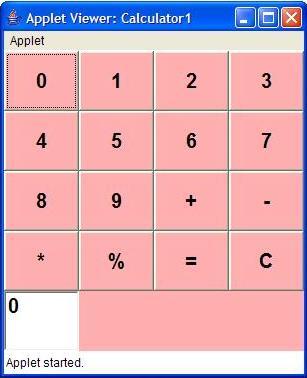 Write a java program that simulates a simple calculator