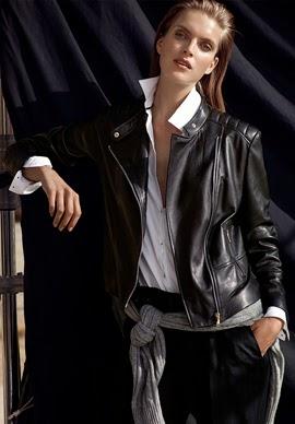 Massimo Dutti lookbook mujer cazadora piel
