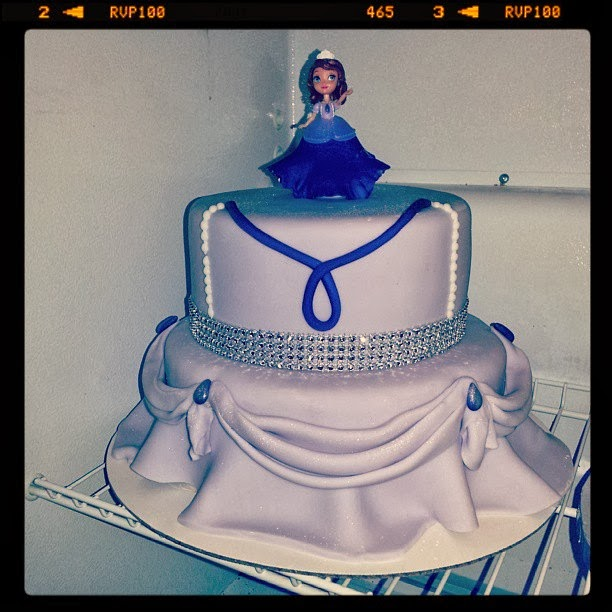 San Diego Chargers Cake: Pink Sugar Cupcakes: Sofia The First Cake