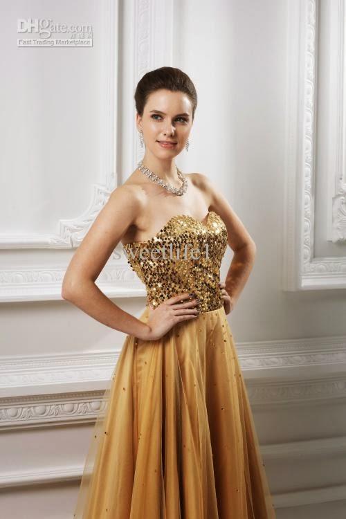 fustane te arit ketu paraqiten thjesht disa fustane me ngjyre ari te ...