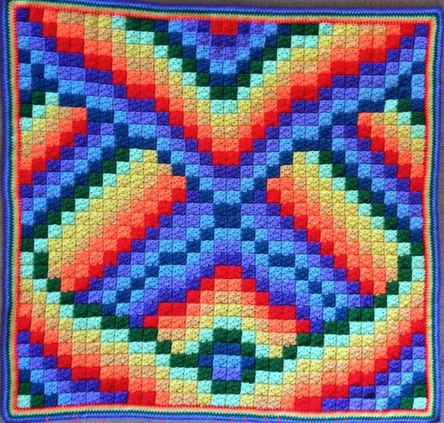 Twist and Turn Bargello Afghan - Free Pattern