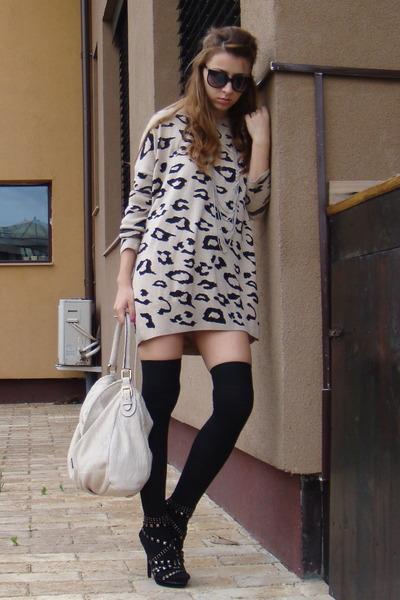 leopard print dress,hight heels,blog, livinginash0e