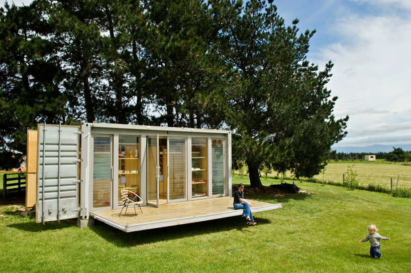 shipping container homes portable shipping container holiday home new zealand. Black Bedroom Furniture Sets. Home Design Ideas