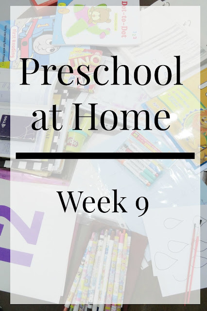 Homeschool Preschool Week 9 Schedule