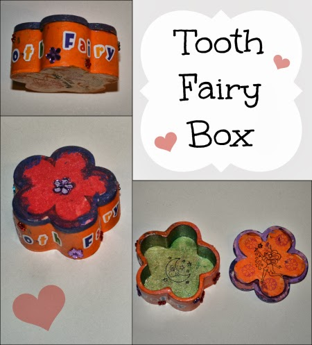 Make a mini wooden storage box for the tooth fairy