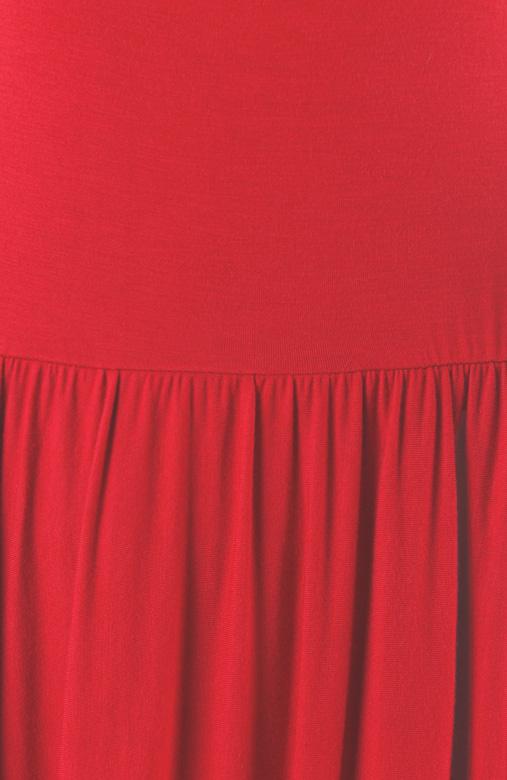 Prudence Midi Skater Dress – Cherry Red