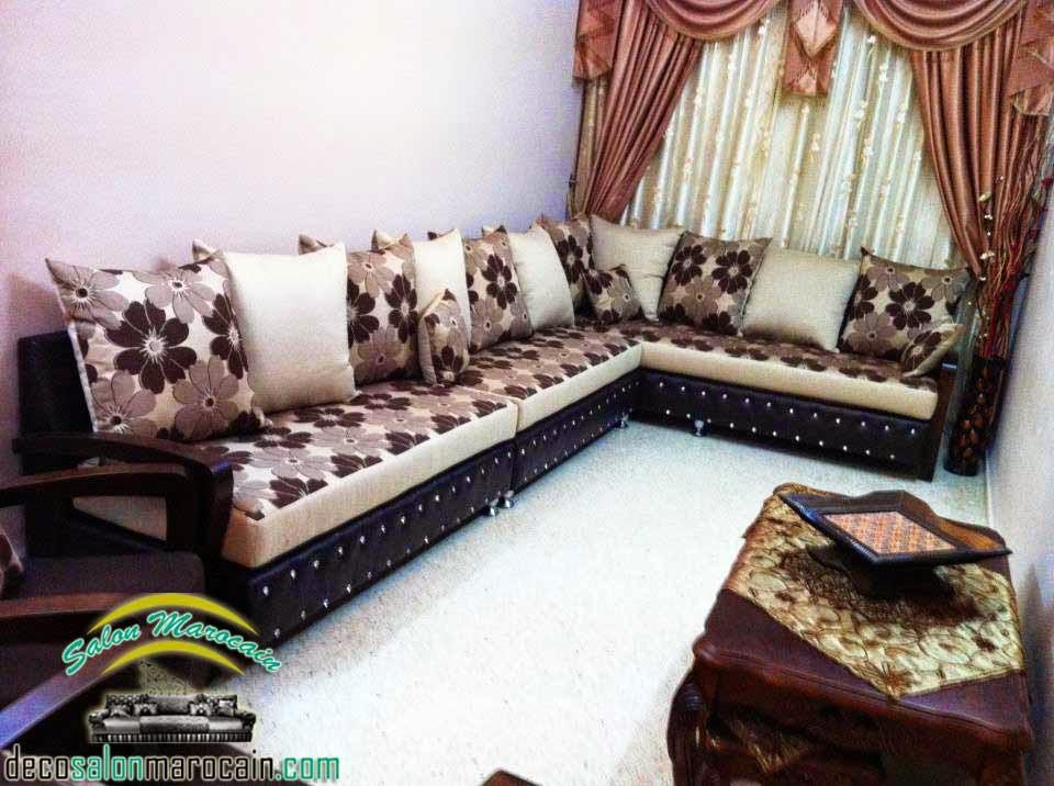 Salon marocain floral exceptionnel