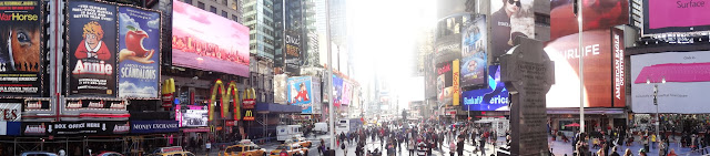 The Panaroma view of Times Square in New York City, USA