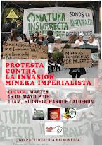 Protesta contra la invasión minera imperialista