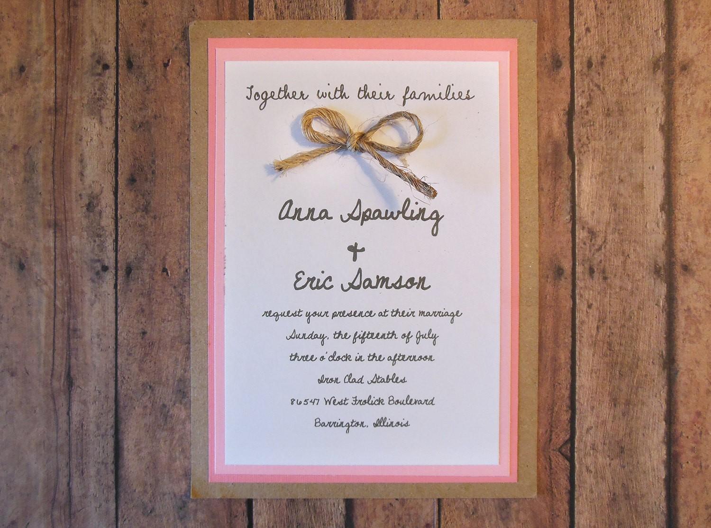 Cheap Rustic Wedding Invitations for amazing invitations example