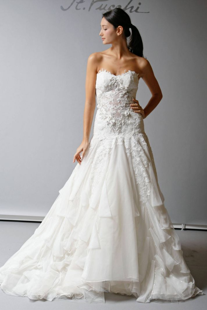 Blu Ivory Wedding Dress Shopping Drop Waist Style And Sea Foam