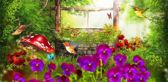 BUTTERFLY GARDEN   3D And CG U0026  Abstract Background Wallpapers On .
