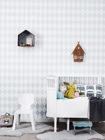 favourite things by ferm living harlequin dotty rose wallpaper. Black Bedroom Furniture Sets. Home Design Ideas