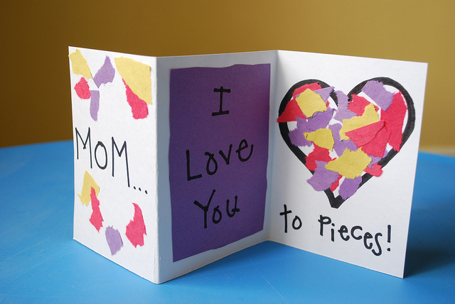 Controlling craziness mother 39 s day cards crafts quotes for Preschool mothers day cards