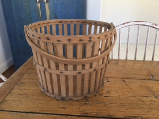 Polly's Basket before I painted/distressed it