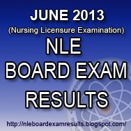 December 2013 Nursing Licensure Examination - NLE / Nursing Board Exam