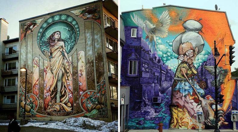 Maestros del Graffiti convierten pared de edificios en asombrosas obras maestras