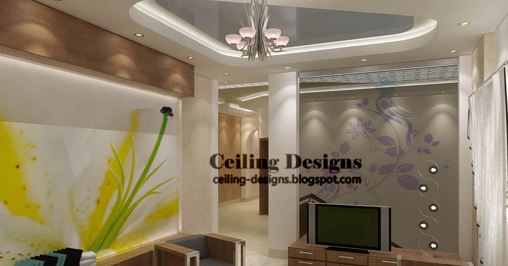 modern stretch false ceiling designs for living