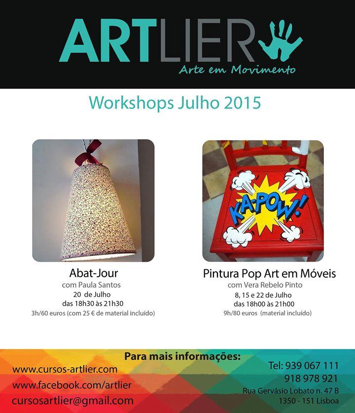 Workshops Lisboa 2015 (Abat-Jour e Pintura Pop Art em Móveis)