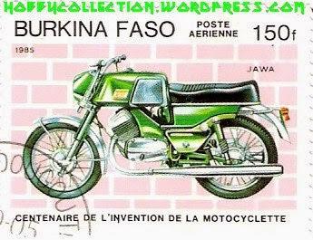 Znaczek pocztowy Jawa, z Burkina Faso