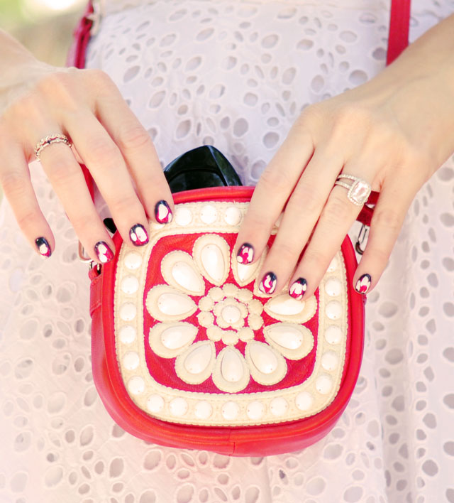 ikat nails, nail art manicure