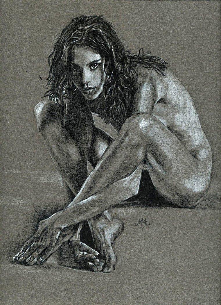 Эскизы голых женщин 2 фотография