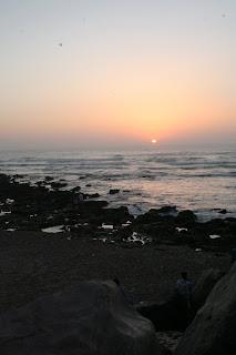 Puesta de sol desde la costa de Rabat. Julio 2011.