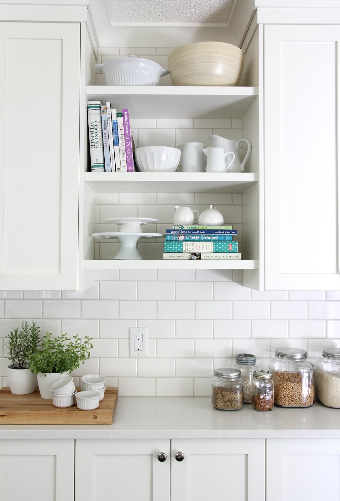 Our house kitchen reveal Open shelving