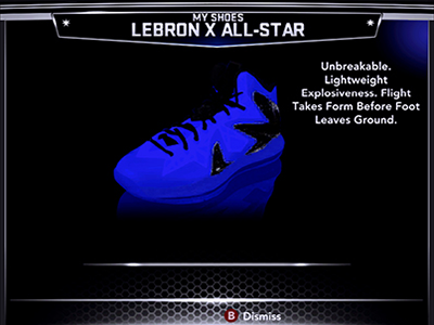 NBA 2K14 Nike LeBron X PS Elite - Glen Davis PE Shoes