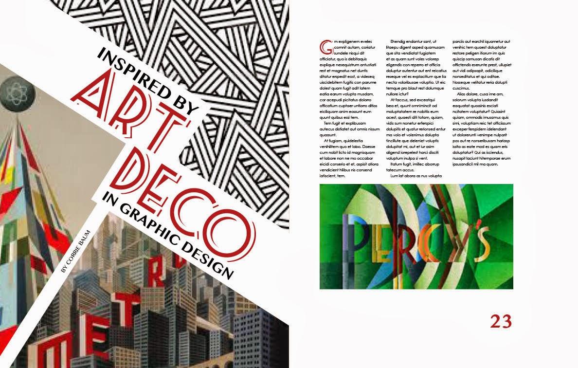 Digital Art And Design M02 Art Deco Themed Magazine