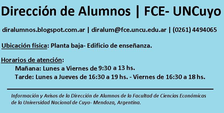DirAlumnos FCE- UNCuyo