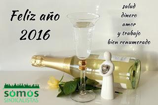 Somos sindicalistas Galicia les desea un feliz año