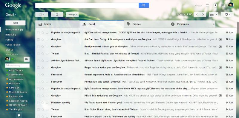 Cara Mudah Mengganti Tema dan Tampilan Pada Gmail Agar Lebih Menarik