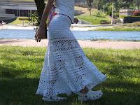 Falda ibicenca blanca ganchillo o crochet