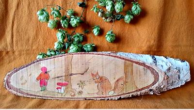 Houten wandplaat seizoentafel herfst Atelier de Vier Jaargetijden