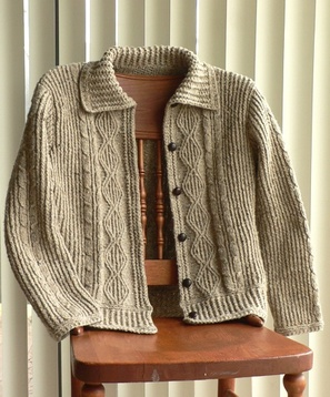 Free Knitting Pattern Ladies Aran Jacket : Knitting Patterns Free: aran knitting