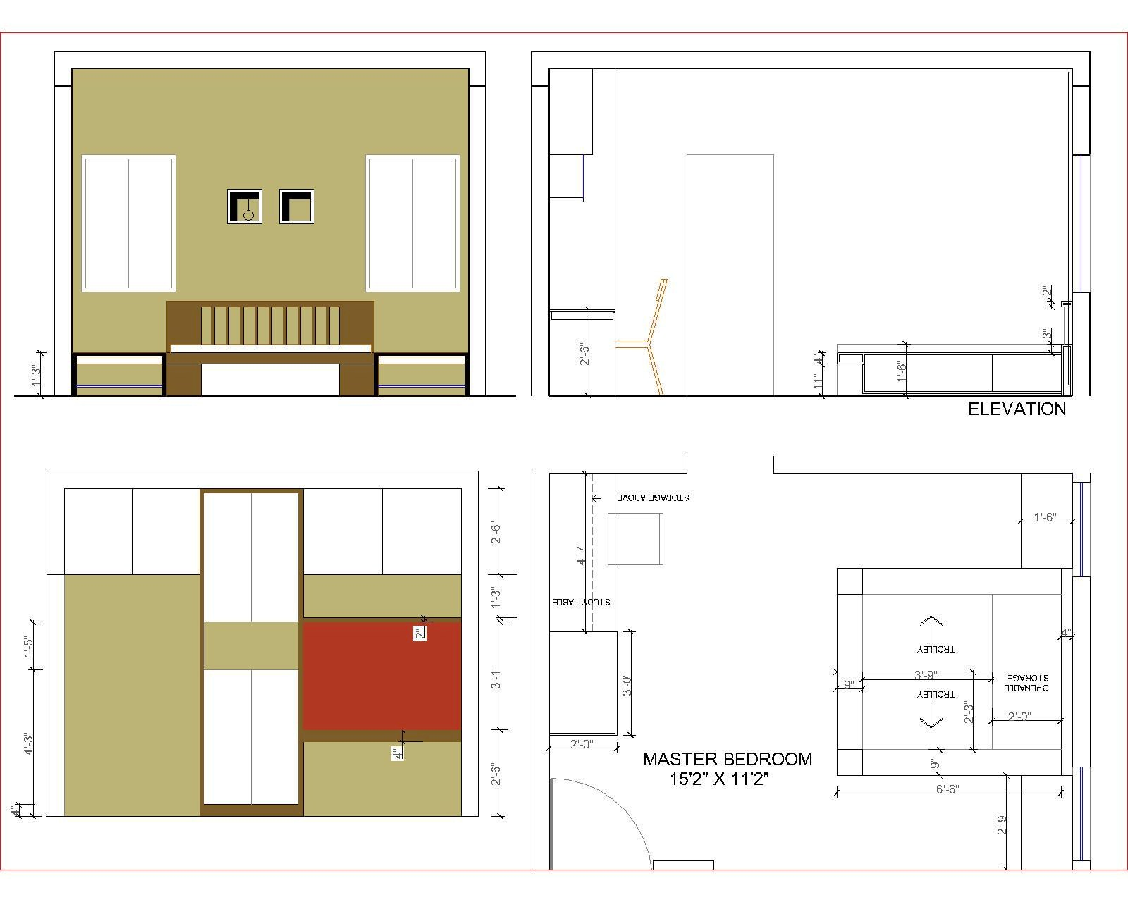 Front Elevation Of Drawing Room : Interior designing portfolio renovation of a bedroom