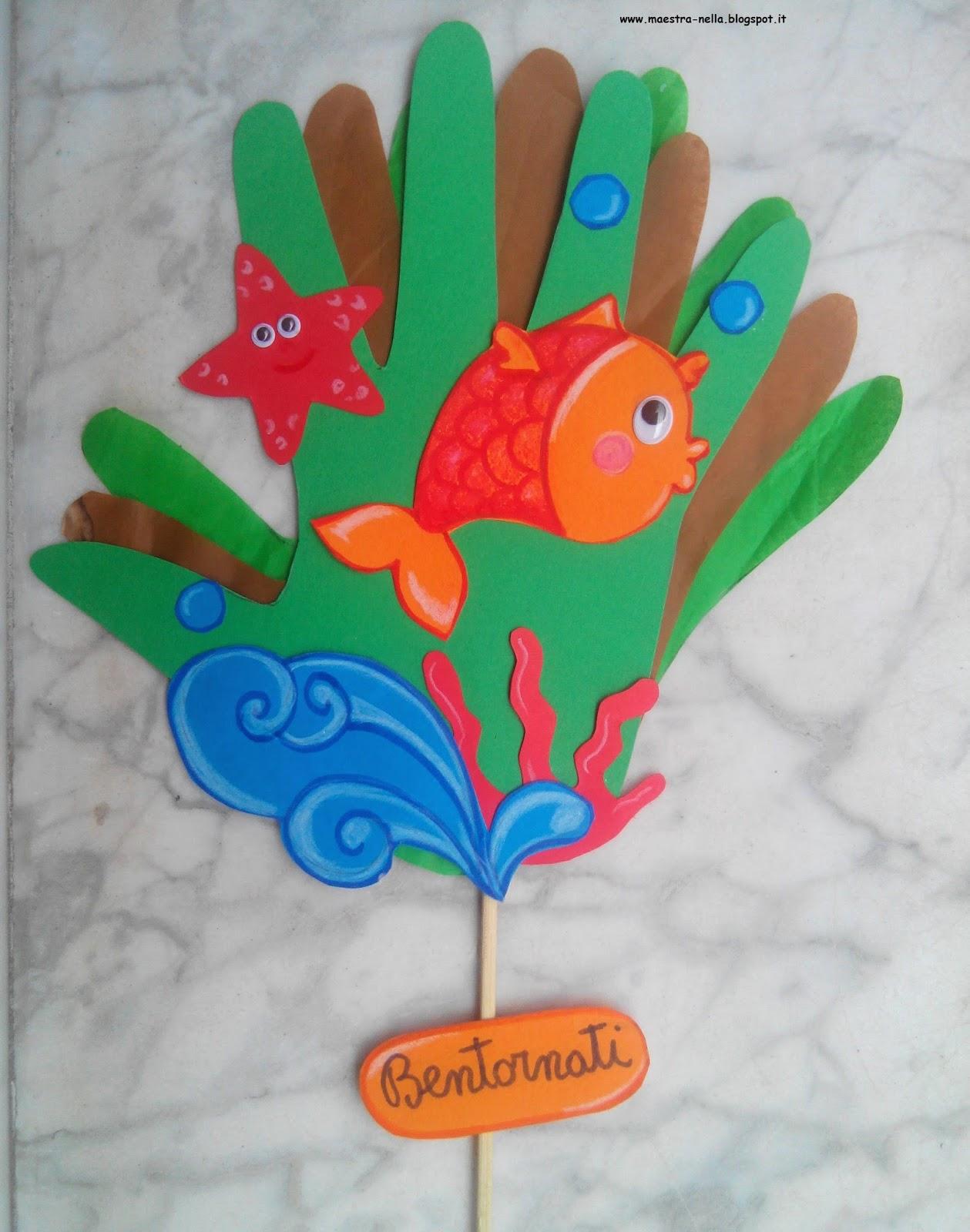 Maestra nella con le mani for Lavoretti per scuola infanzia