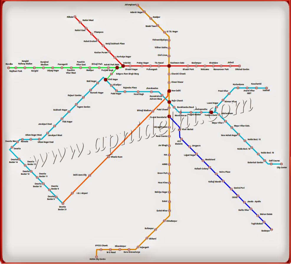 Metro Rail Route Map