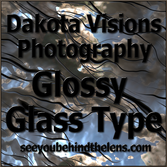 Text Effect Photoshop Tutorial: Glossy Glass Text #typography