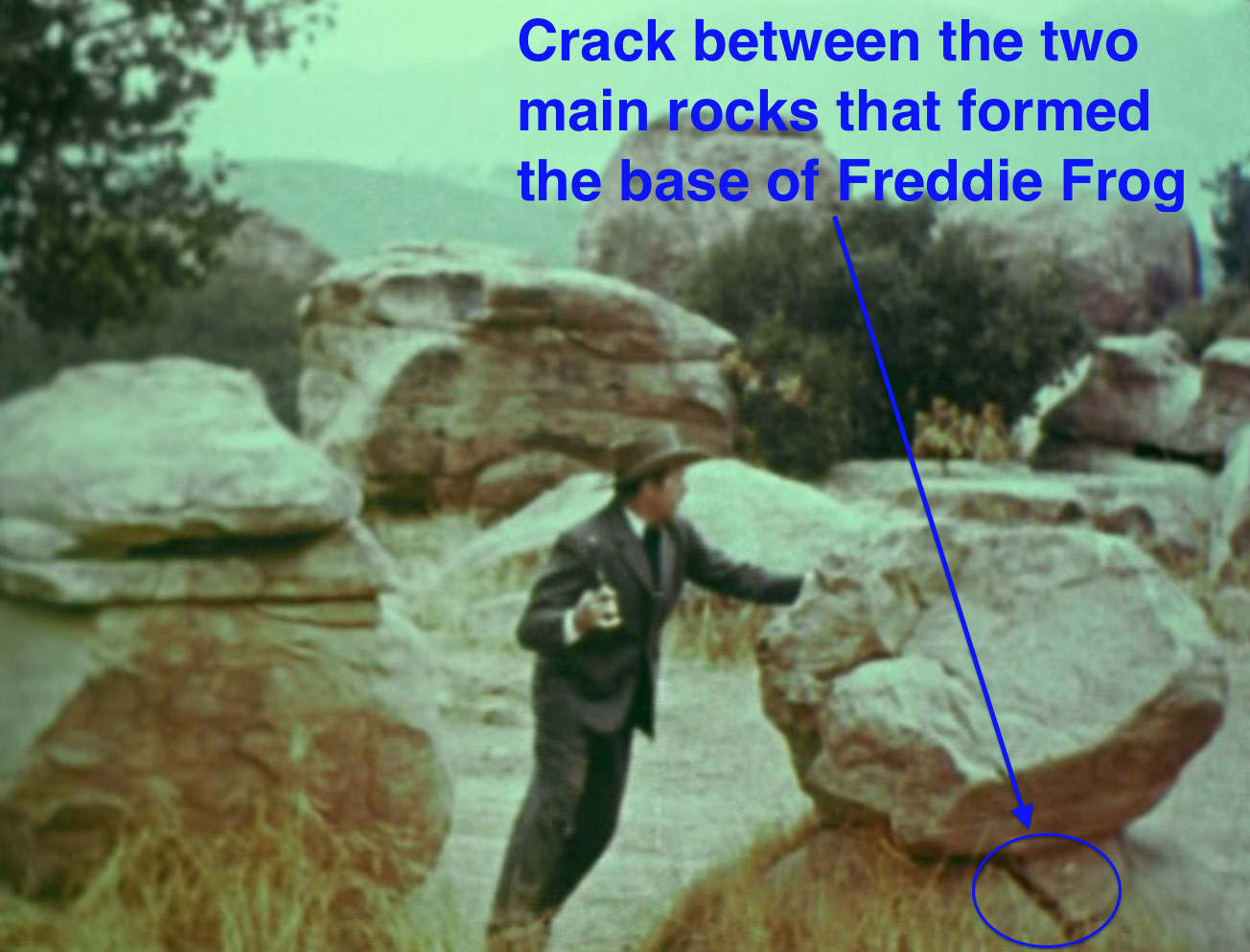 That other rock, of course, was Freddie Frog, and these rocks formed its ba