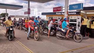 Preço da gasolina varia 20 centavos em Cuité e Nova Floresta; veja os preços