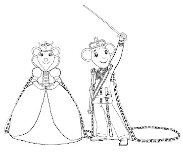 #7 Angelina Ballerina Coloring Page