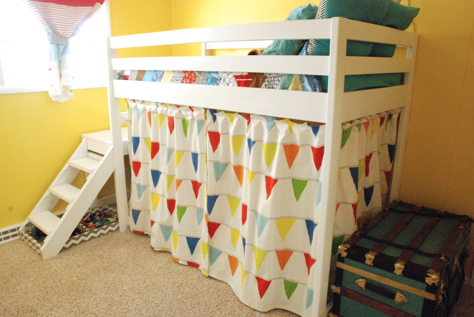 DIY Ana White Jr. Loft Bed - Bright Green Door