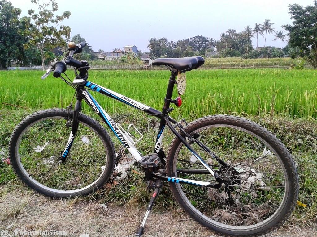 Sepedaku dipinggiran sawah