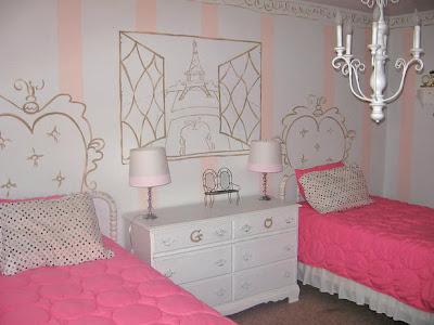 cuarto de hermanas color rosa