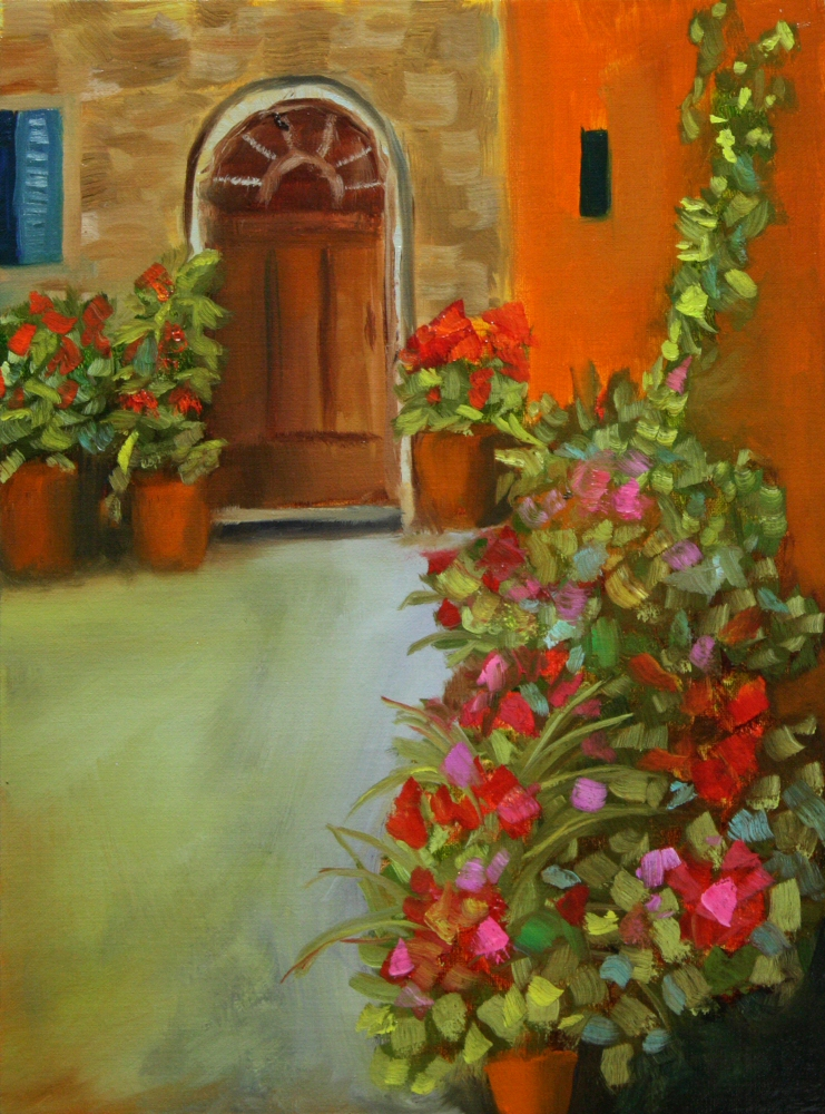 141106 - Dreama - Courtyard 01a 12x9 oil on linen panel Dave Casey The Daily Painter.jpg