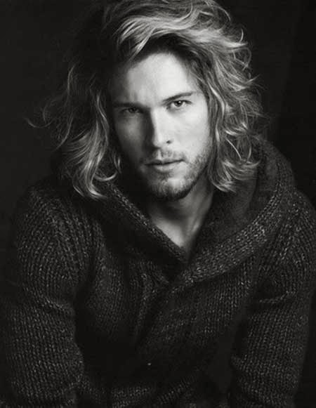 Curly Hairstyles for Men with Long Hair
