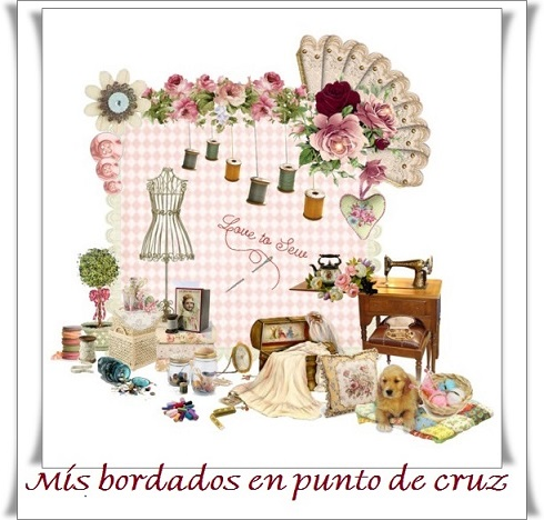"""MIS BORDADOS EN PUNTO DE CRUZ"""